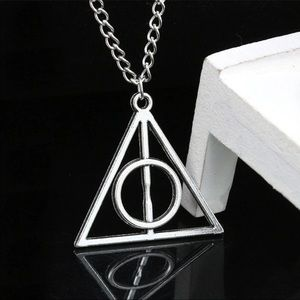 Jewelry - New Deathly Hallows silver tone Triangle Circle